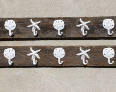 Barn wood towel rack coat hooks keys Beach by BeachHouseDreamsHome