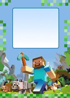 Anniversaire Minecraft - Creepers, pixels et TNT ⋆ Geek Dad Power! Minecraft Birthday Invitations, Minecraft Birthday Party, 6th Birthday Parties, 7th Birthday, Minecraft Templates, Images Minecraft, Cool Minecraft, Minecraft Printable, Creepers