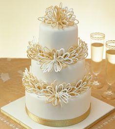 venic cake, gold weddings, wedding cakes, tier cake, amaz cake, white gold, caramel loop, 19 caramel, caramel cake