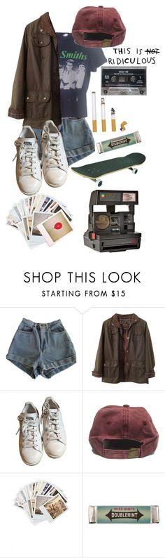 """Turn on the lights"" by spoopy-aries ❤ liked on Polyvore featuring American Apparel, Barbour, adidas, Chronicle Books, Miss Bibi and Polaroid"