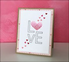 Pops of Paper: The Card Concept: Challenge #27 {LOVE}
