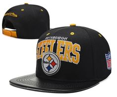 Cheap Pittsburgh Steelers NFL Mitchell And Ness Snapback Hats Leather  Brim 7a5425424