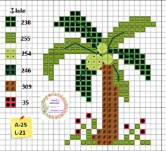 Cross Stitch Tree, Cross Stitch Bookmarks, Cross Stitch Flowers, Cross Stitch Charts, Cross Stitch Patterns, Cross Stitching, Cross Stitch Embroidery, Cross Stitch Kitchen, Needlepoint Designs