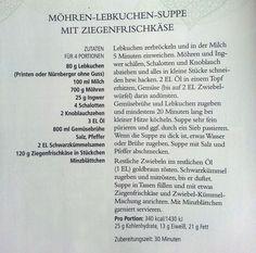 Möhren-Lebkuchen-Suppe mit Ziegenfrischkäse