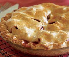 Strawberry-Rhubarb Pie Recipe Rhubarb Recipes, Pie Recipes, Gourmet Recipes, Dessert Recipes, Cooking Recipes, Rhubarb Ideas, Cooking Games, Strawberry Rhubarb Pie, Homemade Pie Crusts