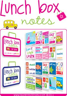 lunch box notes!