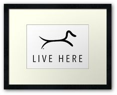 Dachshund live here with minimalist dachshund which is made with two lines. Dachshund Art, Centerpiece Decorations, Minimalist Decor, Custom Boxes, Dog Art, Framed Art Prints, Wall Decor, Live, Wall Hanging Decor