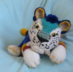 Crochet animals: Chunky the macavnivore - The Croods by HiccToothFan.deviantart.com on @deviantART