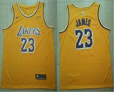 099f1e86d Men s Los Angeles Lakers  23 LeBron James Yellow 2018-19 Nike Wish Swingman  Icon Edition Jersey