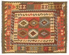 Chilim Afghan Old style 140x181 - CarpetVista