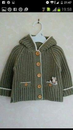 Ravelry: It's a Wabbit! - no pattern - just idea. Baby Knitting Patterns, Baby Sweater Patterns, Baby Boy Knitting, Knitting For Kids, Baby Patterns, Crochet For Boys, Knit Or Crochet, Baby Sweaters, Girls Sweaters