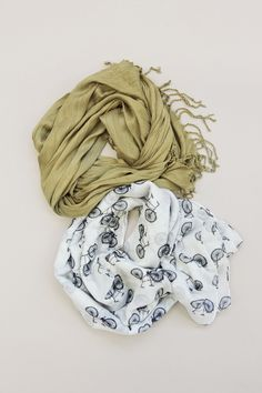 Wrap up in a cozy scarf.