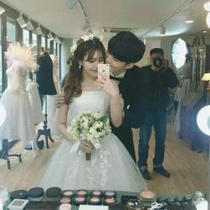 So I basically already have this pic just without the groom LOL Ulzzang Couple, Ulzzang Girl, Cute Korean, Korean Girl, Korean People, Asian Love, Korean Ulzzang, Fashion Couple, Couple Outfits