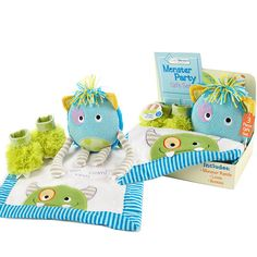 """""""Monster Party"""" Three-piece Gift Set #monster #giftset"""