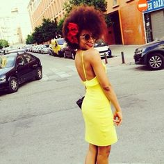 #afro #babe #natural #hair #love