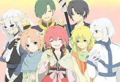 Akatsuki no Yona (Yona, Hak, Yoon, Kija, Shinah, Jae-ha, and Zeno