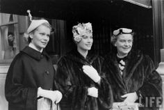Grace Kelly with her mother Margaret and her sister Peggy