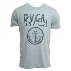 RVCA Mens Shirt Anchor Blue Gray