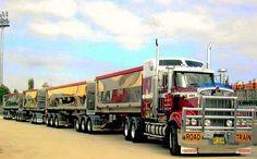 Australian Road Trains: An Aussie Trucker Tells the Real Story Kenworth Trucks, Mack Trucks, Big Rig Trucks, Dump Trucks, Peterbilt, Train Truck, Road Train, Semi Trailer Truck, Show Trucks