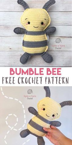 Bumble Bee Free Amigurumi Crochet Pattern