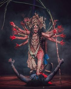 There are several traditions of how Kali came into existence. One version relates when the warrior goddess Durga fought with Mahishasura,… Indian Goddess Kali, Goddess Art, Durga Goddess, Indian Gods, Indian Art, Maa Kali Images, Durga Images, Kali Hindu, Hindu Art