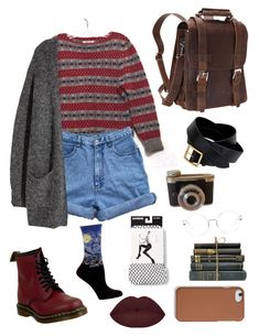 """""""Untitled #4"""" by sarcasticjay on Polyvore featuring Vagabond Traveler, H&M, Alexander McQueen, Dr. Martens, Ray-Ban, Express, HOT SOX and Coach"""