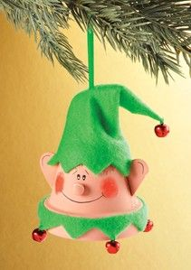 Clay Pot Elf Ornament (Ihave some tiny wooden craft pots that this project would work well with!)