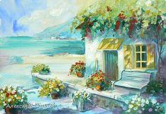 Картина панно рисунок Урок рисования Рисование и живопись Живопись в стиле Солнечный импрессионизм Краска