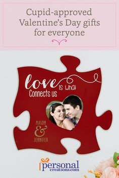 Select personalized Valentine's gifts for her to make the day even more special. Your wife, husband, or any family member will be awed by gifts of engraved rings and necklaces or collage picture frames. These unique presents will show them that you put thought and love into their personalized Valentine's Day gift. Shop today.
