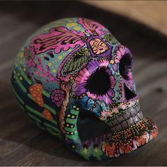Dia De Los Muertos painted skull
