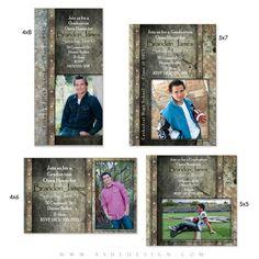Granite Card Templates for Photographers. These make amazing graduation invitations for senior guys. #Photoshop #Templates #Photographers #Seniors