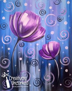 Flower Drawings Easy Canvas Painting Ideas For Beginners - So, this time we have come with some of the mind blowing and extremely adorable easy canvas painting ideas for beginners who have the talent to see life Tulip Painting, Easy Canvas Painting, Diy Canvas, Easy Paintings, Painting & Drawing, Canvas Art, Painting Flowers, Canvas Ideas, Flower Canvas Paintings