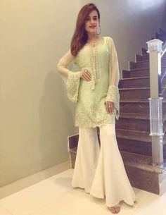 Eid Mubarak ❤️ Thankyou for this his beautiful outfit Pakistani Outfits, Indian Outfits, Indian Clothes, Hijab Fashion, Fashion Outfits, Women's Fashion, Indian Dresses, Day Dresses, Pretty Dresses