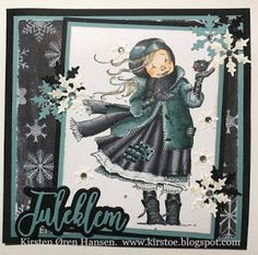Kirstens Hobbyblogg: Julekort Penny Black, Copic Markers, Christmas Cards, Colors, Anime, Art, Christmas Greetings Cards, Xmas Cards, Colour