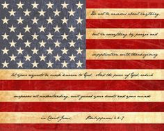 American Flag With Bible Verse -- 8x10 Print  $25.00