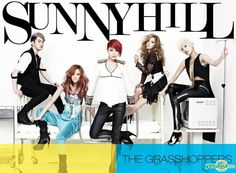 Sunny Hill Maxi Single Album - The Grasshoppers + Poster in Tube