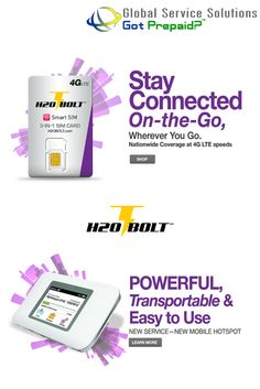 H2O Wireless: the All-New H2O has launched a new product line, BOLT 4G LTE, offering on-the-go mobile internet with nationwide service. For more information contact: sales@gotprepaid.com