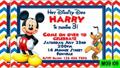 Mickey Mouse Invitation Template   23+ Free PSD, Vector EPS, AI, Format  Download | Pinterest | Mickey Mouse Invitation, Invitation Templates And  Mickey ...