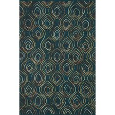 Hand-tufted Echo Blue Wool Rug (5'0 x 7'6) | Overstock.com