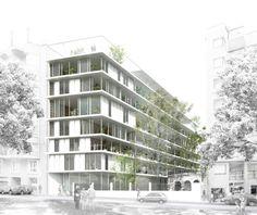 DataAE > 4a posición Concurso Vil·la Urània _ architecture perspective render