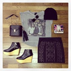 #outfit #fashion #style #Coordinate #Accessories #bag #shose #Earring