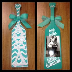 The paddle I made for my amazing big #littlebig #axid #tfj    different color but cute and simple