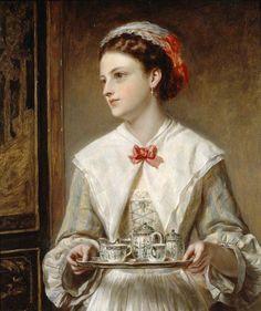 "John Robert Dicksee (1817-1905)- ""The waitress"""