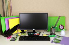 Happy #MardiGras! Get in the spirit by adorning your cubicle with hues of #green, #purple, & #yellow!  Check out http://www.blog.shoplet.com for an easy #HowTo