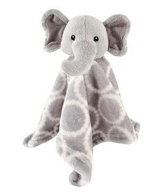 Elephant Plush Lovey Blanket