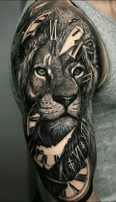 Amazing lion tattoo ideas - shoulder tattoos - # amazing # lion tattoo # tattoo style - tattoo style - Amazing Lion Tattoo Ideas Shoulder Tattoos # amazing tattoo You are in the right - Badass Sleeve Tattoos, Lion Tattoo Sleeves, Forearm Sleeve Tattoos, Body Art Tattoos, Cool Tattoos, Men Tattoos, Amazing Tattoos, Black Tattoos, Small Tattoos