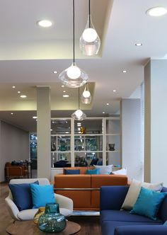 VIP lounde Varna Airport by SE.G architects Chandelier, Building A House, Furniture, Table, Shades, Home, Bespoke Lighting, Home Decor, Ceiling Lights