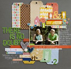 There is No Doubt - by Leslie Ashe using the Amy Tangerine Ready Set Go collection from American Crafts. #scrapbooking #amytangerine