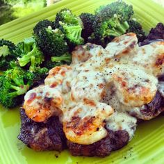 our copycat recipe for Applebee's Shrimp and Parmesan Sirloin