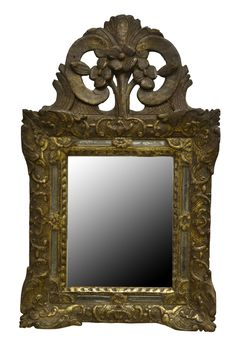 Giltwood small margin mirror, France, circa 1720